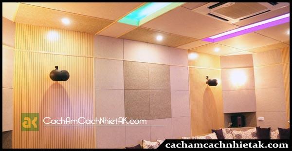 Tiêu âm phòng karaoke với tấm tiêu âm Polyester 7