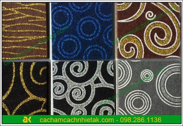 Tấm tiêu âm sợi bông ép polyester fiber hoa văn
